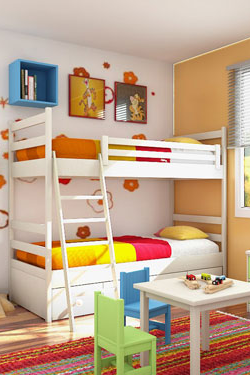 Kinderzimmer bunt