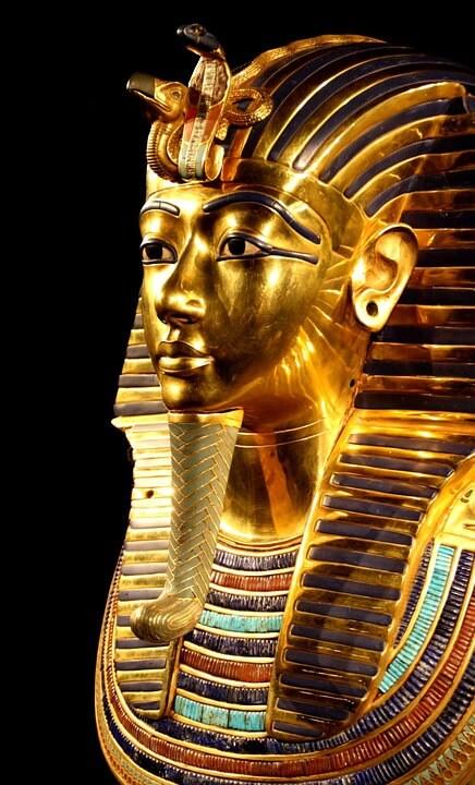 Beruehmte Totenmaske des Pharaos Tutanchamun