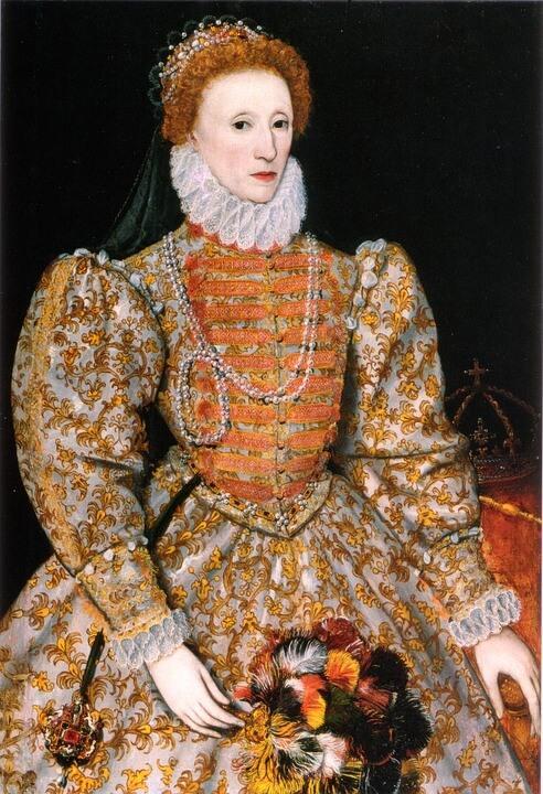 Koenigin Elisabeth mit kleinerem, plissiertem Kragen