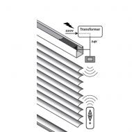 elektrische alujalousie mit schalter oder fernbedienung. Black Bedroom Furniture Sets. Home Design Ideas