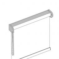 kettenzugrollo mit tr gerprofil einfach ziehen positionieren. Black Bedroom Furniture Sets. Home Design Ideas