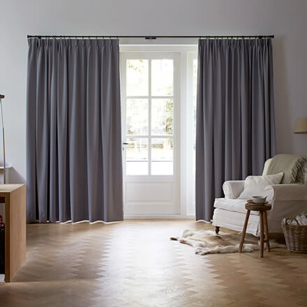 Verdunkelungsgardine Grau Im Wohnzimmer
