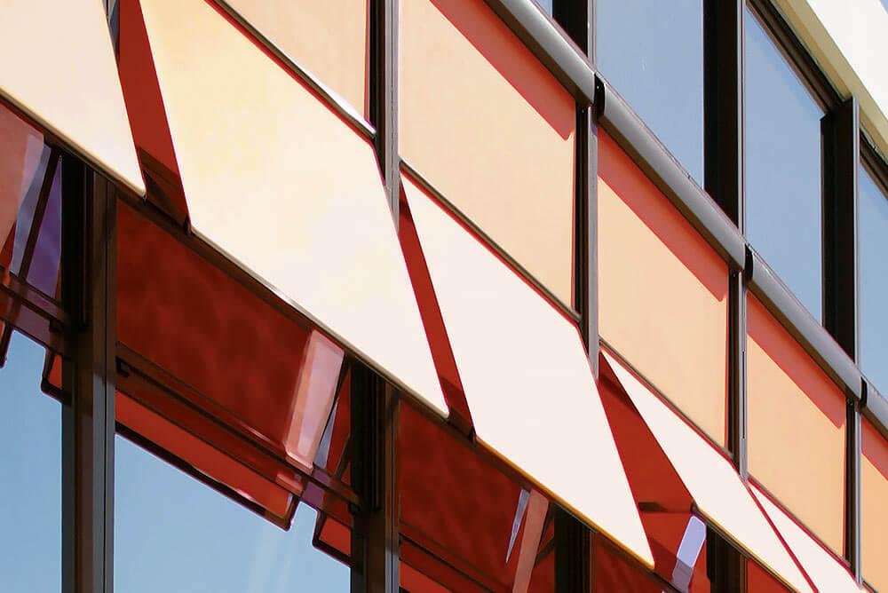 Fenstermarkise Arco / Canto M (Markisolette), große Fensterfront