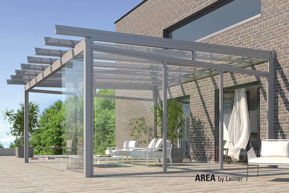 Glassystem AREA CLASSIC Dachüberstand