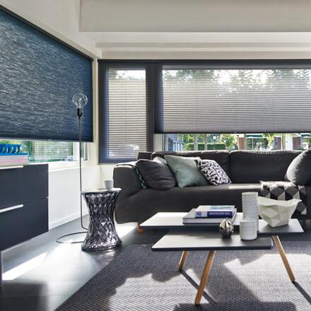 Charmant Elektrische Plissees Im Wohnzimmer   Bedienkomfort Deluxe