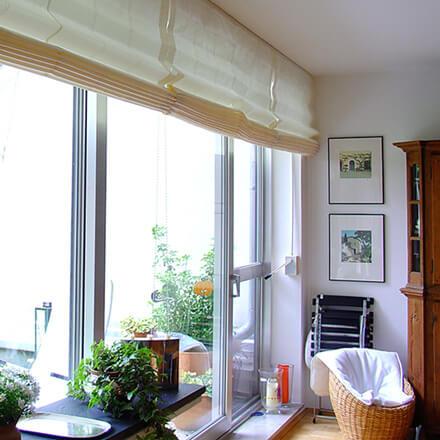 Extrem Raffrollo für Balkontür, Terrassentür & Fenster mit 5 Jahren Garantie NE08