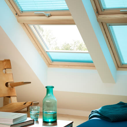 Velux Plissee Dachfenster Plissee Mit Slimline Technologie