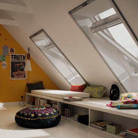 insektenschutz f r dachfenster mit dem velux. Black Bedroom Furniture Sets. Home Design Ideas