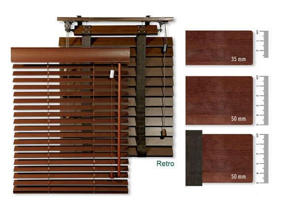 Holzjalousien konfigurieren